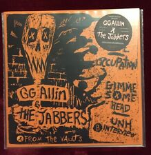 "NEW! GimmeSomeH/DeadOrAlive GG Allin & the Jabbers Ltd Ed 7"" #d FREE US SHIPPING"