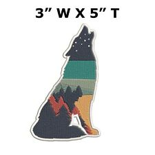Wolf Moon Embroidered Patch Iron-On / Sew-On Vacation Souvenir Travel Explore