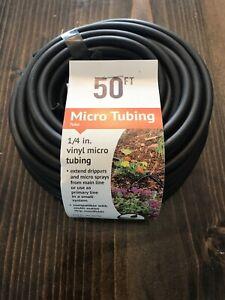 """DIG B38 1/4"""" x 50' Vinyl Micro Tube Black Drip Line Hose"""