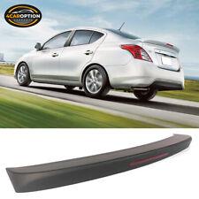Fits 12-19 Nissan Versa 4 Door Matte Black ABS Rear Trunk Spoiler Wing Lid