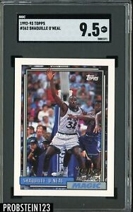 1992-93 Topps #362 Shaquille O'Neal Magic RC Rookie HOF SGC 9.5 MINT+