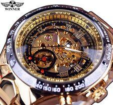 Winner Sport Golden Watch Mens Luxury Watch Men Automatic Black Gold 001