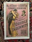 Barbara Stanwyck signed Double Indemnity mini poster