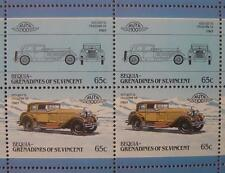 1929 ISOTTA FRASCHINI (IF) Tipo 8 / 8A (Italy) CAR 50-STAMP SHEET (1986 Bequia)
