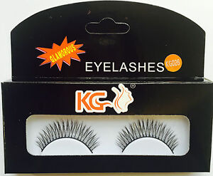 KG026 KG STRIP EYELASHES WITH GLUE BRAND NEW ( PACK OF 2 )