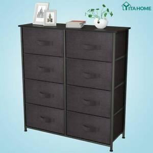 YITAHOME 8 Drawers Dresser Bedroom Chest Fabric Organizer High Storage Tower
