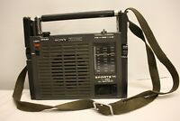 SONY ICF-111L SPORTS 11 IC+ FET SOLID STATE RADIO WEATHER PORTABLE VINTAGE