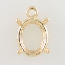 PRENOTCHED OVAL DANGLE SETTING 11X9MM IN YELLOW GOLD CD1190OV-10KY
