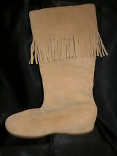 Ladies Beige Suede Moccasin style boots size 7 - Fiore