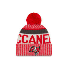 NEW Era NFL Bobble Tampa Bay Buccaneers Rosso 2017 SPORT Knit Sideline Beanie Cappello