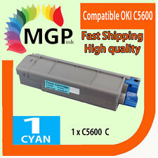 1x Cyan Compatible Toner cartridge for OKI C5600 C5700 5600 5700 43381911