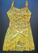 BLACK or GOLD 2 Piece Chiffon NIGHTIE & G-STRING Lingerie Dress Sexy Nightwear