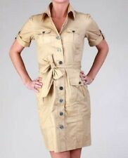 BRANDNEW VAN HEUSEN belted button-down safari dress khaki, sz6