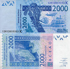 SENEGAL 2000 Francs Banknote World Money UNC Currency p716Km West African States