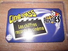 CARTE FROSTIES CEREALES KELLOG'S CINE PASS LES CHIFFRES RECORDS DU CINEMA FRENCH