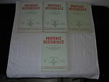 lot 4 revues Provence Historique 1960/1966/1967