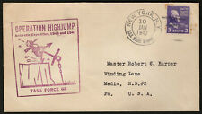 US 1938 #807 Operation Highjump Task Force 68 Antarctic Expedition 1947 Cover
