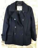 Jack Wills Ladies Size 10 Double Brested Wool Blend Padded Mac Jacket Coat