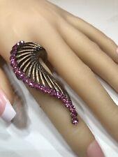 Copper Costume Fashion Ring With Rhinestones