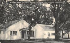 Milford Nebraska~United Brethren Speakers Cabin~Youth Camp Chapel~1950 B&W PC