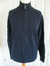 Lambswool unisex navy zip up jumper - Size M