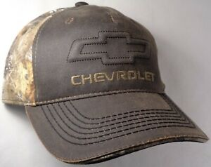 Hat Cap Licensed Chevrolet Chevy Bowtie Realtree Camo Brown OC
