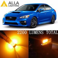 Alla Lighting Turn Signal Light Amber Yellow LED Bulbs Blinker Lamp for Subaru
