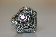 AUTHENTIC NEW PANDORA FALL 2016 OPULENT HEART 791964CZO ORCHID CZ STERLING SILV