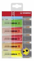 STABILO BOSS Assorted Wallet Highlighter Pens 6 Pack Chisel Tip 2.5mm Line