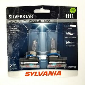 Sylvania Silverstar H11 Headlight Low Beam 2 Bulbs Set High Performance Unused
