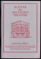 Blätter des Deutschen Theaters Berlin, Sonderheft 1990/91