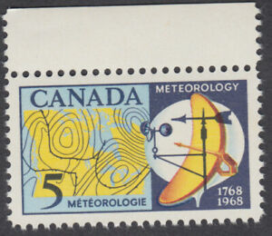 Canada - #479ii Meteorology, HB, Red Over Blue Variety - MNH, Unitrade CV.$20