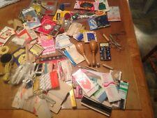 HUGE LOT OF VINTAGE  SEWING NOTIONS, SNAPs, Binding, Needles, UNUSUAL stuff