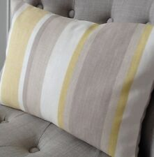 "12x18"" cushion cover in Laura Ashley Awning stripe camomile, Austen back"