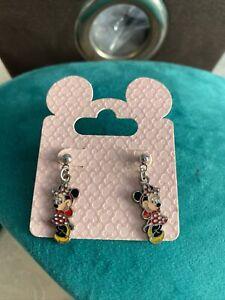 Disney Parks NWT Minnie Mouse Pierced Earrings