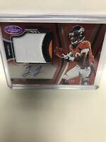 JERRY JEUDY 2020 Certified FOTL AUTO JERSEY SSP 🔥 Broncos RC RPA RED #d /25