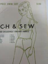 Vtg 70's Ann Person BIKINI SWIMSUIT w/ BOY SHORTS Sewing Pattern Women UNCUT