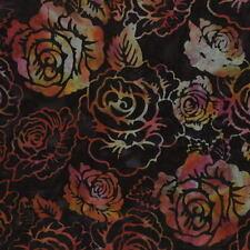 Hoffman Bali Chop Rose K2492-128 Midnight Cotton Batik Fabric BTY