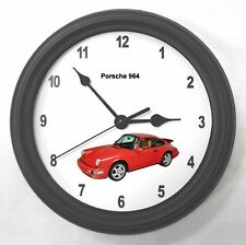 Porsche 911 964 Automotive Garage Wall Clock New Great Gift!