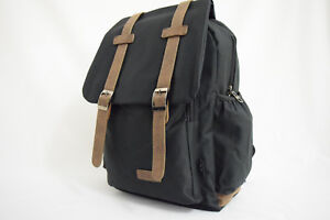 Canvas Backpack Outdoor Travel Camping Bag with Padded Sleeve for Laptop HQ
