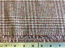 BROWN PLAID W/ NUBS OF RED,GOLD & GRAY-60 INCH WIDE--BY THE YARD