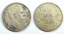 UMBERTO I 1878-1900 -AG/ 5 LIRE 1879