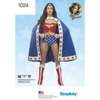 Simplicity Pattern 1024  Wonder Woman DC Comics Cosplay Costume H5 6-14