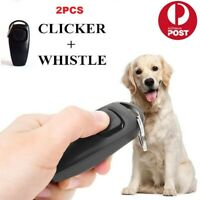 2PCS Pet Dog Training Clicker Cat Puppy Button Click Trainer Obedience For Dog
