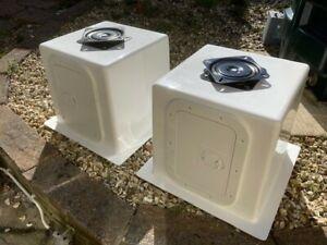 2 x GRP Boat Seat Storage Box, Swivel and Hatch - Rib / Fishing Boat ex-display