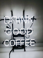 "New Drink Good Coffee Bar Light Beer Neon Sign 32""x24"" Open Artwork Glass Cafe"