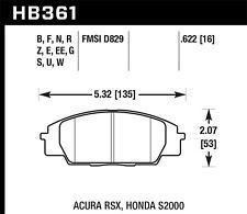 HAWK HPS PERFORMANCE STREET FRONT BRAKE PADS HB361F.622 - 06-11 CIVIC SI 02+ RSX