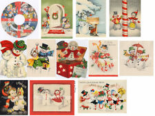 Vintage Christmas Snowman Cards CD V. 1