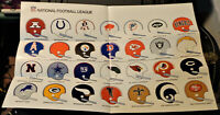1971 NFL  FAN KIT POSTER  NEW / NOS  (OLD TEAM HELMETS) GIANTS, COLTS, DOLPHINS