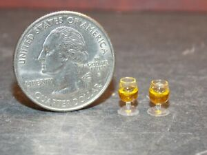 Dollhouse Miniature Wine Glass Set of 2 1:24  Half inch scale G7 Dollys Gallery